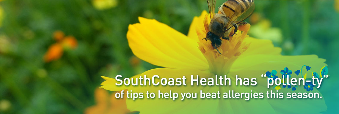 "Spring is too beautiful to be miserable. We have ""pollen-ty"" of help for you."